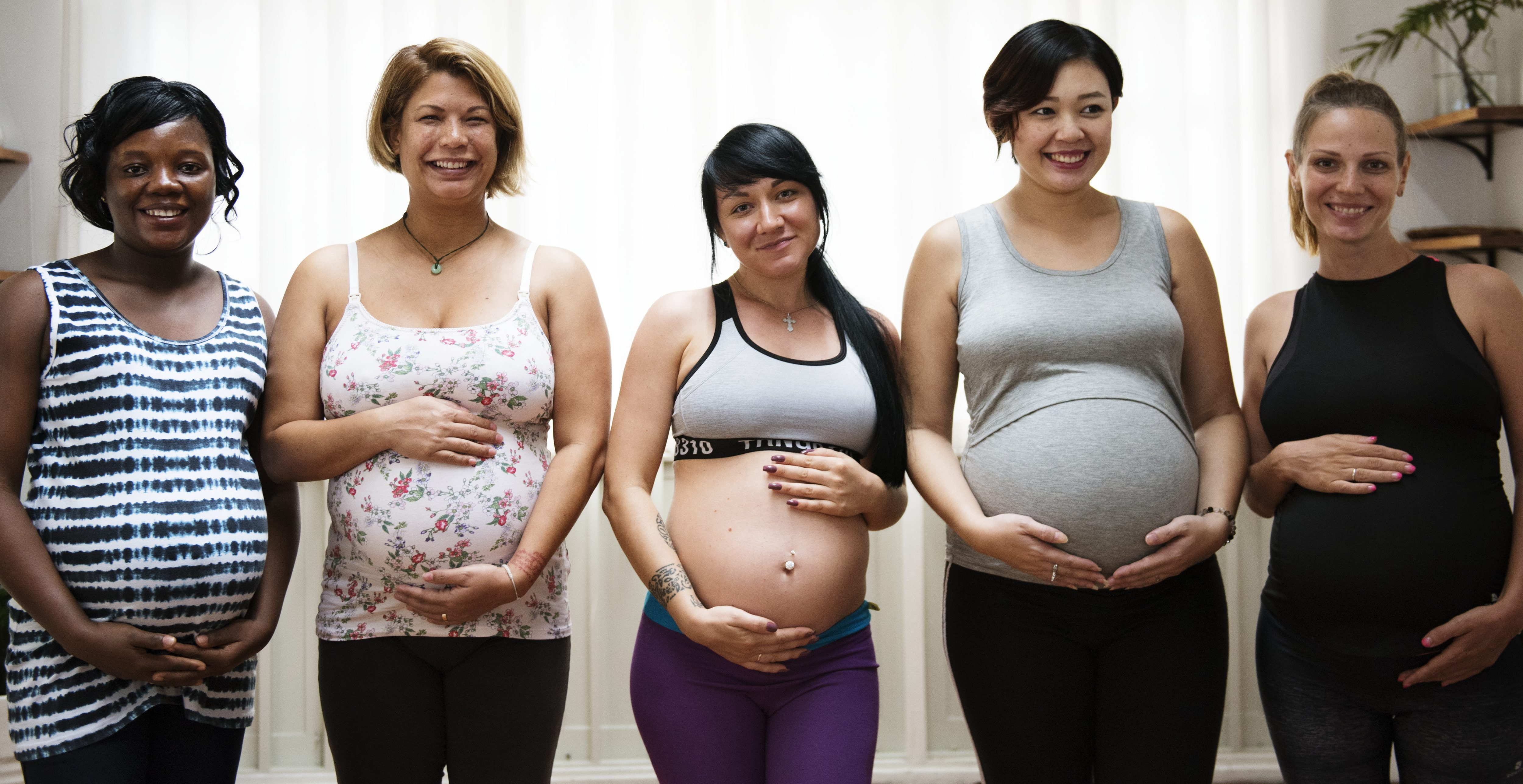 Pregnant women in a class